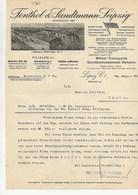 FENTHOL- SANDTMANN LEIPZIG -TRANSPORTS MEUBLES - FACTURE DE 1933 - 1900 – 1949