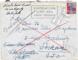 RETOUR ENVOYEUR P26 PARIS 26 RUE DU FBG ST DENIS CHATELAILLON SEVRAN - Postmark Collection (Covers)