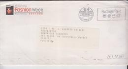 Hong Kong Airmail Cover To Pakistan, Stamps, Meter    (A-690) - Hong Kong (1997-...)