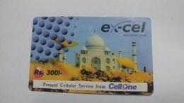 India-ex-cel-recharge Card-(30)-(rs.300)-(28.2.2005)-(jaipur)-card Used+1 Card Prepiad Free - India