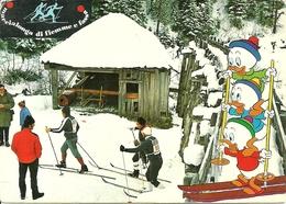 """Trentino, """"Marcialonga Di Fiemme E Fassa"""" 1973, Gruppo Partecipanti E Qui, Quo, Qua Sciatori - Wintersport"""