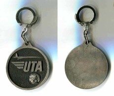 Porte-clés Métal : UTA - Cie D'Aviation (diamètre 5cm) - Porte-clefs