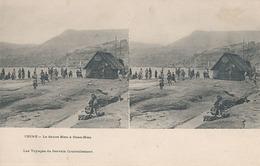 CHINE - LE FLEUVE BLEU A OUAN-HIEN (les Voyages De Gervais Courtellemont) - Cartes Stéréoscopiques