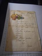 Menu Du Congres 1950, Collage Sur Carton - Menus