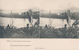 CHINE - LE FLEUVE ROUGE A LOAKAY (TONKIN) (les Voyages De Gervais Courtellemont) - Cartes Stéréoscopiques