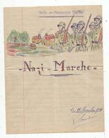 Partition Musicale , NAZI - Marche ,11 Novembre 1944 , Ruillé En Champagne ,Sarthe , 4 Pages,  3 Scans , Frais Fr 1.45 E - Partitions Musicales Anciennes