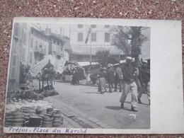 Frejus . Carte Photo . Place Du Marche . Dos 1900 . Rare - Frejus