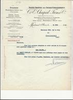 ETABLISSEMENT C.E.CHAPAL -MONTREUIL SOUS BOIS - TEINTURERIE DE PELLETERIES ET  FOURRURES - 1952 - Textile & Clothing