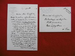 LETTRE AUTOGRAPHE ANATOLE DE LA FORGE A Mr ESCOFFIER REDACTEUR DU PETIT JOURNAL 1878 - Autographs