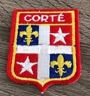 ECUSSON  CORTE  ARMOIRIES  HAUTE CORSE - Ecussons Tissu