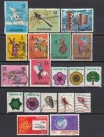 SINGAPUR Ab 1960-1980 - Lot Mit 19 Verschiedenen Used - Singapour (1959-...)