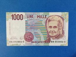 1990 ITALIA BANCONOTA FDS 1000 LIRE MONTESSORI - 1000 Lire