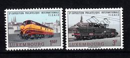 Trein: Luxemburg 1966 Mi Nr 735 + 736 Postfris - Treinen