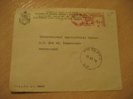 RIO CLARO 1976 To Wageningen Netherlands University Meter Mail Cancel Cover BRASIL Brazil Bresil - Brésil