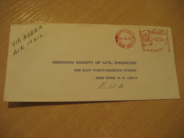 ANAPOLIS 1971 To New York USA Meter Air Mail Cancel Cover BRASIL Brazil Bresil - Brésil