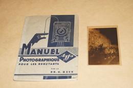 Ancien Manuel Photographique Agfa + Ancien Négatif Original,88 Pages,15,5 Cm. Sur 11,5 Cm. - Fotografia