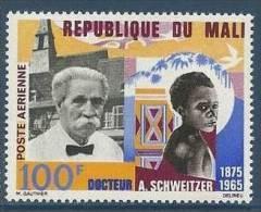 "Mali Aerien YT 32 (PA) "" Docteur A. Schweitzer "" 1965 Neuf** - Mali (1959-...)"