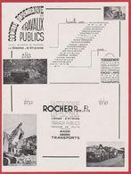 Société Forezienne De Travaux Publics, Entreprise Rocher Père & Fils, Saint Etienne, Loire (42), 1949. - Pubblicitari