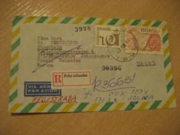 RIO DE JANEIRO 1975 To Stockholm Sweden Registered Air Mail Cancel Cover BRASIL Brazil Bresil - Brésil