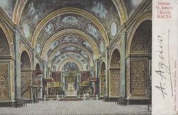Malte - Malta - Interior Of St John's Church - Malta
