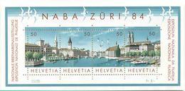 1984 Svizzera, Esposizione Filatelica  NABA 84, Serie Completa Nuova (**) - Blocchi & Foglietti