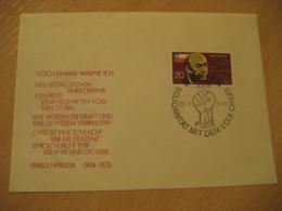 BERLIN 1974 Pablo Neruda Literature Solidaritat Cancel Cover DDR Germany CHILE - Chili