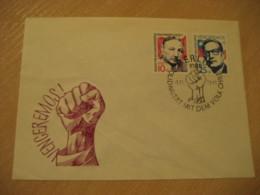 BERLIN 1973 Pablo Neruda Luis Corvalan Literature Solidaritat Cancel Cover DDR Germany CHILE - Chili