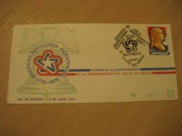 1976 Bicentenario Bicentennial USA Independence FDC Cancel Cover CHILE - Chili