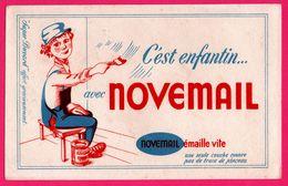 BUVARD Illustré - NOVEMAIL émaille Vite - Peinture - Peintre - Pinceau - Super Buvard - Paints