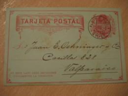 SANTIAGO 1892 To Valparaiso 2 Centavos Colon Columbus Postal Stationery Card CHILE - Chili