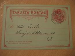 VALPARAISO 1891 2 Centavos Colon Columbus Postal Stationery Card CHILE - Chili