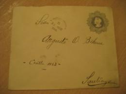 SANTIAGO 1908 5 Centavos Colon Columbus Postal Stationery Cover CHILE - Chili