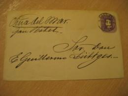 SANTIAGO 1898 To Viña Del Mar 5 Centavos Colon Columbus Postal Stationery Cover CHILE - Chili