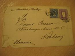 TALTAL 1895 To Schleswig Germany Via Cordillera Mendoza 5 Centavos Colon Columbus Postal Stationery Cover CHILE - Chili