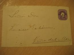 SANTIAGO 1893 To Viña Del Mar 5 Centavos Colon Columbus Postal Stationery Cover CHILE - Chili