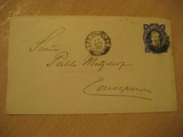 LOS ANJELES 1903 To Concepcion 5 Centavos Colon Columbus Postal Stationery Cover CHILE - Chili
