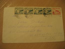 SANTIAGO 1957 To Washington USA Cancel Air Mail Cover CHILE - Chili