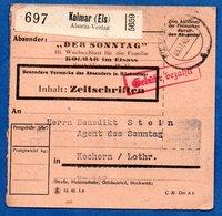 Colis Postal  -  De Kolmar  Pour Cocheren  03/11/1943  -  Alsatia Verlag - Storia Postale