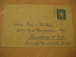 PAPUDO 1952 To Buffalo USA Stamp Cancel Cover CHILE - Chili