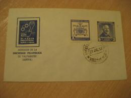 VIÑA DEL MAR 1957 Feria Industrial Stamp Cancel Cover CHILE - Chili