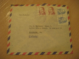 BUIN 1982 To Barcelona Spain Stamp Cancel Air Mail Cover CHILE - Chili