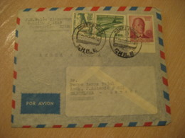 CONCEPCION 19?? To Barcelona Spain Stamp Cancel Air Mail Cover CHILE - Chili
