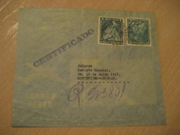 SANTIAGO 1947 To Montevideo Uruguay Stamp Cancel Air Mail Cover CHILE - Chili