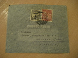 VALPARAISO 1938 To Lorrach Germany Stamp Cancel Air Mail Cover CHILE - Chili