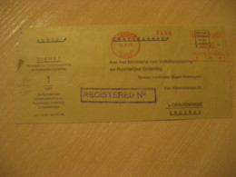 SANTIAGO 1976 To Gravenhage Netherlands Registered Cancel Meter Air Mail Cover CHILE - Chili