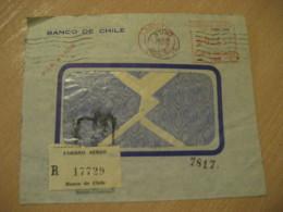 SANTIAGO 1950 Banco De Chile Cancel Meter Air Mail Cover CHILE - Chili