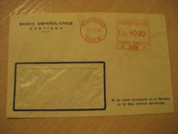 SANTIAGO 1941 Banco Español - Chile Cancel Meter Mail Cover CHILE - Chili