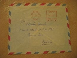 VALPARAISO 1977 To Buenos Aires Argentina Cancel Meter Air Mail Cover CHILE - Chili
