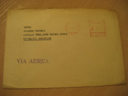 PUNTA ARENAS 1977 To Buenos Aires Argentina Cancel Meter Air Mail Cover CHILE - Chili