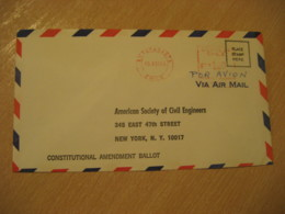 ANTOFAGASTA 1969 To New York USA Cancel Meter Air Mail Cover CHILE - Chili